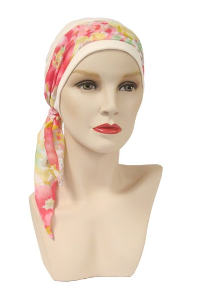Mini scarf with hat floral