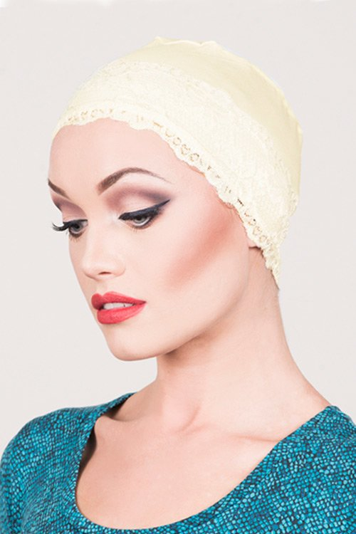 Lace-Sleep-cap-cream